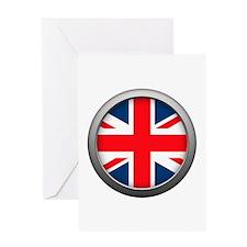 Round Flag - United Kingdom Greeting Card