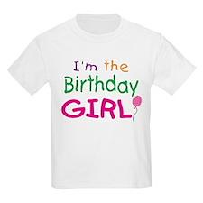 I'm the Birthday Girl Kids T-Shirt