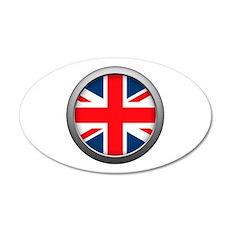 Round Flag - United Kingdom 38.5 x 24.5 Oval Wall