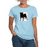 Pug Silhouette Women's Light T-Shirt