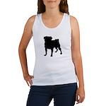 Pug Silhouette Women's Tank Top