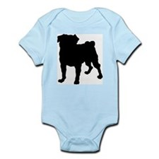 Pug Silhouette Infant Bodysuit