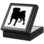 Pug Silhouette Keepsake Box