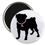 Pug Breast Cancer Support Magnet