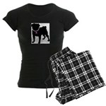 Pug Breast Cancer Support Women's Dark Pajamas