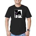 Pug Breast Cancer Support Men's Fitted T-Shirt (da