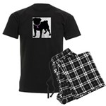 Pug Breast Cancer Support Men's Dark Pajamas