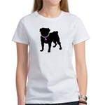 Pug Breast Cancer Support Women's T-Shirt