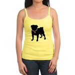 Pug Breast Cancer Support Jr. Spaghetti Tank