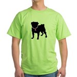 Pug Breast Cancer Support Green T-Shirt
