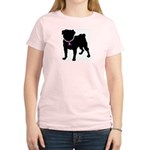Pug Breast Cancer Support Women's Light T-Shirt