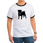 Pug Breast Cancer Support Ringer T