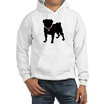 Pug Breast Cancer Support Hooded Sweatshirt