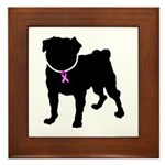 Pug Breast Cancer Support Framed Tile