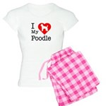 I Love My Poodle Women's Light Pajamas