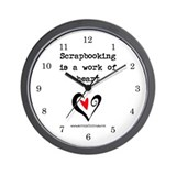 Scrapbooking Is A Work Of Heart Wall Clock