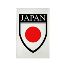 Japan Flag Patch Rectangle Magnet