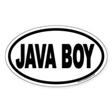 Java Boy Euro Oval Decal