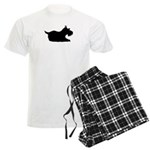 Schnauzer Silhouette Men's Light Pajamas