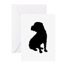 Shar Pei Silhouette Greeting Cards (Pk of 20)