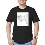 Siberian Husky Outline Men's Fitted T-Shirt (dark)