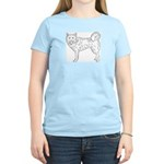 Siberian Husky Outline Women's Light T-Shirt
