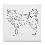 Siberian Husky Outline Tile Coaster