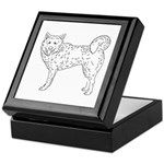 Siberian Husky Outline Keepsake Box