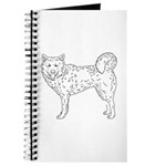 Siberian Husky Outline Journal