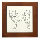 Siberian Husky Outline Framed Tile