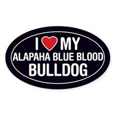 I Love My Alapaha Blue Blood Bulldog Sticker/Decal