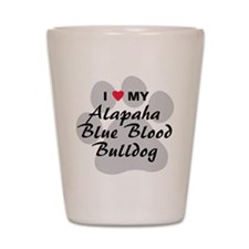 Alapaha Blue Blood Bulldog Shot Glass