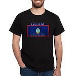 Guam Guaminian Flag Black T-Shirt