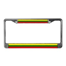 Lithuanian Flag License Plate Frame