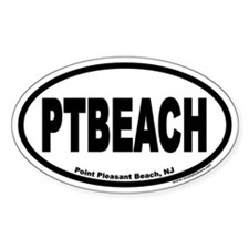 Point Pleasant Beach PTBEACH Euro Oval Decal