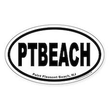 Point Pleasant Beach PTBEACH Euro Oval Stickers