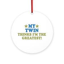 My Twin Ornament (Round)