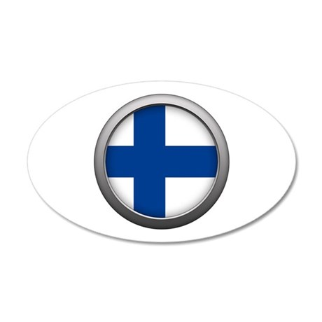 Round Flag - Finland 22x14 Oval Wall Peel