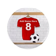 """Red Customizable Soccer footb 3.5"""" Button (100 pac"""