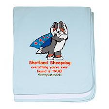 Tri Super Sheltie baby blanket