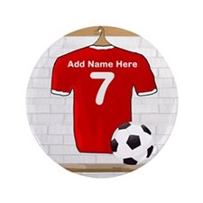 "Red Customizable Soccer footb 3.5"" Button (100 pac"