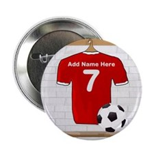 "Red Customizable Soccer footb 2.25"" Button (10 pac"
