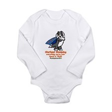 Black Super Sheltie Long Sleeve Infant Bodysuit