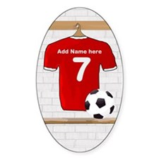 Red Customizable Soccer footb Decal