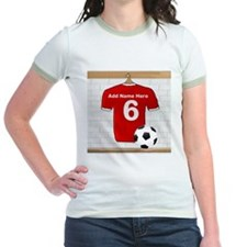 Red Customizable Soccer footb T