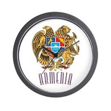 Armenian Coat of Arms Wall Clock