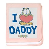 "Baby Garfield ""Heart Daddy"" Baby Blanket"