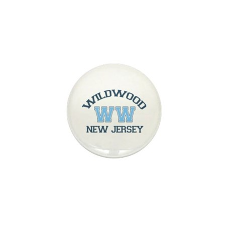 Wildwood NJ - Varsity Design Mini Button