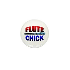Flute Chick Mini Button (100 pack)