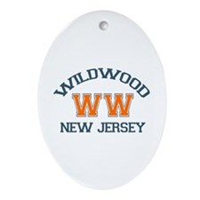 Wildwood NJ - Varsity Design Ornament (Oval)